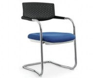 PLASTIC BACK CANTILEVER VISITOR CHAIR
