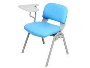 upholstered Conference Chairs with Rotating Writing Tablets