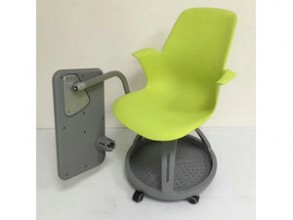 student chair with folding writing pad