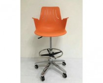 Swivel Plastic Drafting Chair with Arms