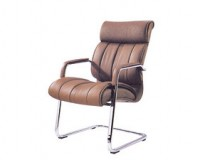 non swivel office chair / leather guest chairs