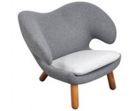 Finn Juhl Grey Pelican Chair