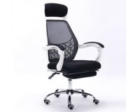 Massage Recliner Office Chair Mesh High Back Office Task Computer Desk Chair with Footrest