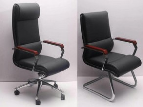 High Back Leather EXECUTIVE Computer Home Office Desk Swivel Chair