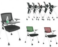 conference chair with writing tablet