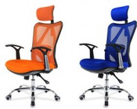 orange ergonomic office chair